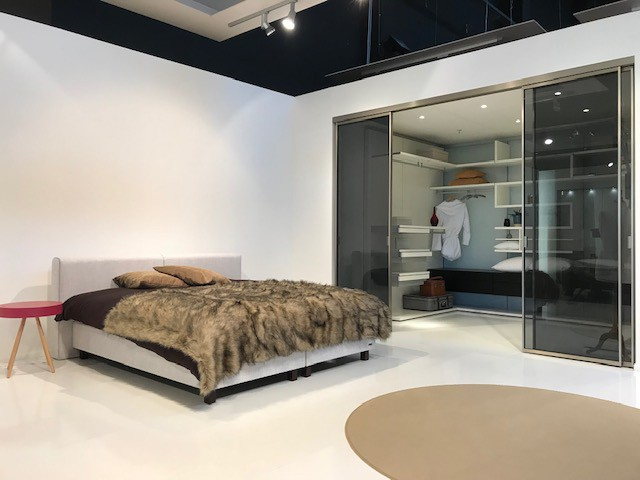 Het nieuwe bed is praktisch